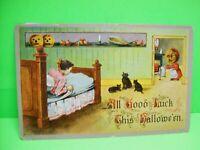 Halloween Postcard Gottschalk Hofmann Black Cats German 2243 Antique Original 73