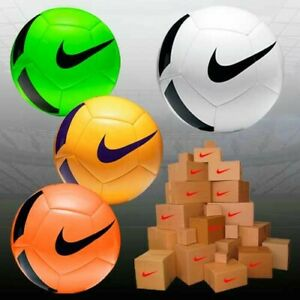 New Nike Pitch Team Training Football Ball -Pump White Orange Red  - Size 3,4,5