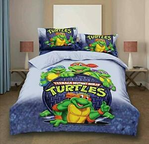 Bed Sheet Cotton Turtle Bedsheet 2 Pillow Cover For Kids Home Decor purpose
