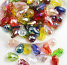 wholesale 20-50pcs AB Teardrop Shape Tear Drop Glass Faceted Loose Crystal Beads
