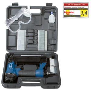Scheppach Druckluft 2-In-1 Klammer-Nagelpistole Druckluftnagler Tacker Holz