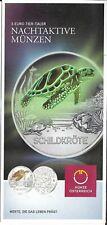 Österreich 3 Euro Schildkröte 2019 nur Flyer no coin   Eiamaya
