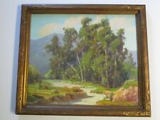 HOWARD IRWIN PAINTING CALIFORNIA EUCALYPTUS OIL IMPRESSIONIST LANDSCAPE ANTIQUE