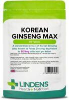 Korean Ginseng Max 3125mg 90 Tablets Lindens Health + Nutrition Ltd (2827)