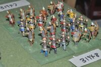25mm dark ages / viking - archers 24 figures - inf (31948)