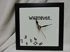 Lorrie Veasey Whatever Ceramic Wall clock