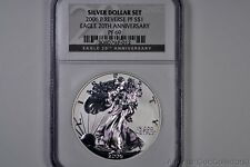 2006-P Reverse PROOF American Eagle Silver Dollar $1 NCG PF 69 20th Anniversary