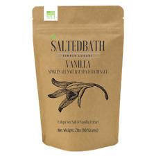 2 lbs Vanilla Scented Bath Salts – All Natural Spa & Bath Sea Salt Soak