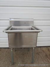 "New  Stainless Steel 1 Compartment Sink, 16Ga, Bowl Size 24""x24""x14"", NSF"