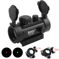 1x40 Tactical Rifle Holographic RD Red Dot Sight Optics Scope Fit 11mm 20mm Rail