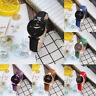 Womens Ladies Fashion Leather Band Analog Quartz Round Wrist Watch Watches