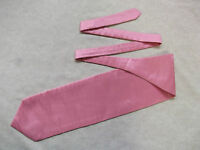 Ascot Cravat MENS Wedding Scrunchie Ruche One Size ENGLISH ROSE PINK