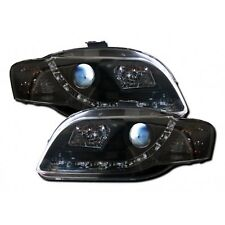 Audi A4 B7 2005-2009 Black R8 LED DRL Style Headlights 1 PAIR