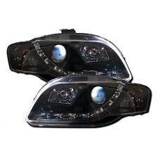Audi A4 B7 2005-2009 Black R8 LED DRL Style Headlights 1 PAIR