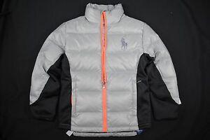 NEW KIDS Boys Ralph Lauren POLO BIG Pony Active Ocean Down Jacket L(14-16) $185