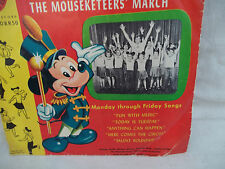 "Mouseketeers March Mickey Mouse Club March Record & Sleeve 45 RPM 7"" DBR-50"