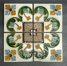 Antique Portuguese Tile - Set of 4 Floral