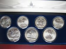 USSR Russia 1980 Moscow Olympics Silver 1980 UNC 5 & 10 Rubles 7 Coin Set