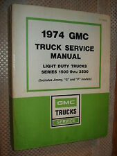 1974 GMC SHOP MANUAL RARE SERVICE BOOK REPAIR!!!!! NICE BOOK