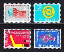 Switzerland 1961 MNH Mi 727-730 Sc 402-405 Ice Hockey,telephone service,Health