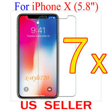 """7x Clear Screen Protector Guard Cover Film Shield For Apple iPhone X  (5.8"""")"""