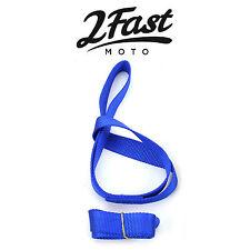 "2FastMoto 18"" Blue Soft Tie Down Extension Straps Loop 2pk ATV UTV Quad Can Am"