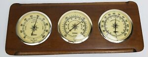 Vintage Springfield Wall Weather Station (Thermometer Barometer Hydrometer)