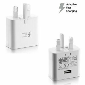 Genuine Samsung Fast Charger Plug for Smartphones and Tablets (White) EP-TA20UWE