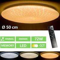 72W LED Deckenleuchte Sternendekor Deckenlampe Dimmbar mit Fernbedienung Rund