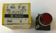 SQUARE D 9001 TP-1R1 SERIES B PILOT LIGHT PLASTIC RED CAP 110-120V 50-60HZ