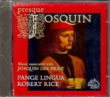 JOSQUIN - Choral Music - Robert RICE / Pange Lingua - Proud Sound - NEW