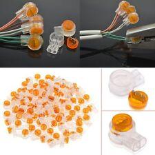 100 PCS UY Network Butt 2 Wire Single Blade Gel Splice Filled Crimp Connector