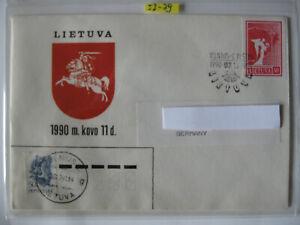 Litauen, Belege von 1990 eine Rarität nach BRD gelaufen  von 1990,1993