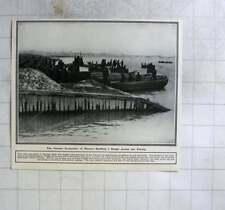 1916 Building A Bridge Across The Vistula, German Occupation Of Warsaw