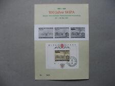 AUSTRIA, spec. sheet 100 years WIPA, blackprint and S/S