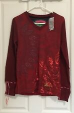 New with Tags Desigual Long Sleeve Top Size L