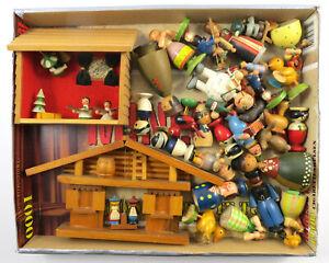 Antikes Spielzeug Holz Konvolut Erzgebirge Figuren Tiere (E4)