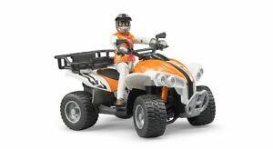 Quad bike + Driver Figure Bruder Toy Car Model 1/16 1:16