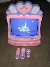 "Disney Princess 13"" TV & DVD player withy 3 Remotes DT1350-P Pre-owned"