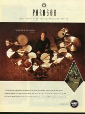 2004 Print Ad of Sabian Paragon Neil Peart RUSH Signature Drum Cymbals