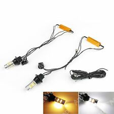 2pc 7440 T20 50W 2835 Dual-Color Switchback LED DRL Bombilla Intermitente Kit