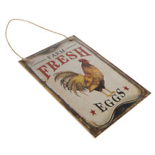 Rustic Style Farm Fresh Eggs Hanging Sign Plaque Country Chicken Coop Decor
