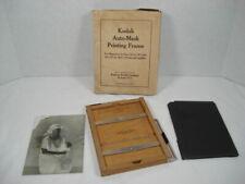 "Vintage Kodak Auto Mask Printing Frame for Negatives 4""x 5"" and Smaller Usa"