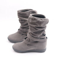 Womens Winter Warm Booties Shoes Size Ladies Buckle Slouch Flat Ankle Snow Boots
