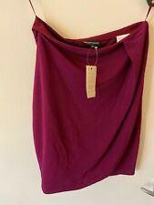 New Emporio Armani IT EU 38 UK Size 6 Magenta Burgundy Designer Mini Skirt