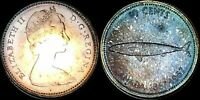 1967 CANADA 100TH ANNIVERSARY OF CANADA 10 CENTS SILVER HIGH QUALITY TONED COIN