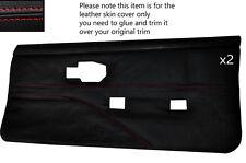 Red stitch 2 cartes de porte avant pleine peau couvre fits PONTIAC FIREBIRD 90-92