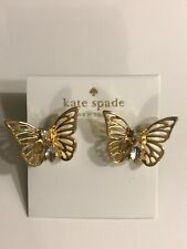 0f8e98731 Kate Spade Gold social Butterfly large Statement Earrings w K.S Dust Bag