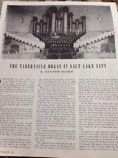 N1-7 Ephemera 1950s Picture Article Tabernacle Organ Salt Lake City