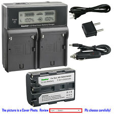 Kastar Battery Dual Fast Charger for Sony NP-FM50 & Cyber-shot DSC-F828 DSC-R1